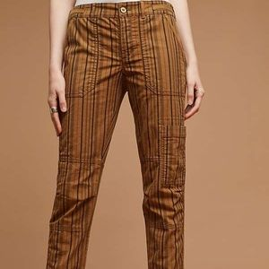 Anthro Hei Hei The Wanderer Cargo Striped Pants